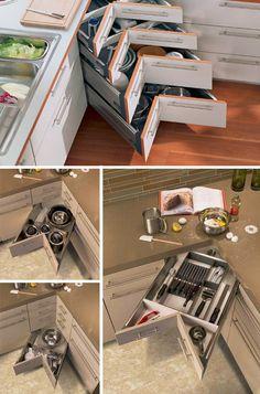 Love this idea...    Edge Cases: 8 Space-Saving Design Ideas for Inside Corners