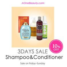 3DAY SALE - All Shampoo & Conditioner 10% OFF until Sunday Discounted price will be reflected at Check Out http://www.aonebeauty.com/shampoos/?sort=newest  http://www.aonebeauty.com/conditioners/?sort=newest  #sale #3daysale #beauty #discount #haircare #shampoo #conditioner