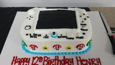Wii U birthday cake