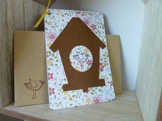 """Carte """"Le grand jour oiseau"""" et son enveloppe kraft by lfdp : Cartes par faire-parts-absolument-bylfdp"""