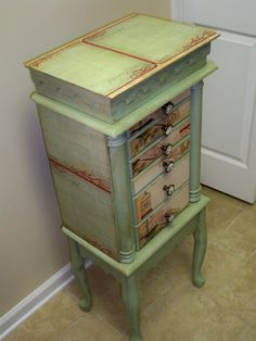 Repurposed Jewelry Armoire Custom Made To by funandfancydesigns, $350.00