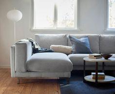 """NOCKEBY Sofakombination mit Bezug """"Tallmyra"""" schwarz-weiß von IKEA - annablogie"""