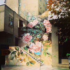 farsizaban: Colorful Stairs, Tehran, Iran