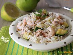 RISO FREDDO AL LIMONE GAMBERI E TONNO  #ricette #food #recipes