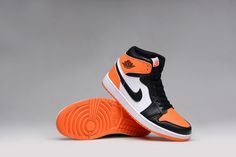 cheap for discount c34dd 4514f Air Jordan 1 High Shattered Backboard 555088 005 Black Team Orange Hot Sale  Jordan 4,