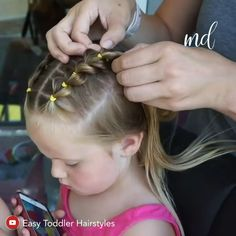 Easy Little Girl Hairstyles, Girls Hairdos, Baby Girl Hairstyles, Easy Toddler Hairstyles, Old Hairstyles, Toddler Hair Dos, Hair Kids, Scarlett, Fine Hair