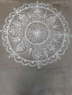 Kolam 20150205 Rangoli Patterns, Rangoli Ideas, Kolam Rangoli, Simple Rangoli, Beautiful Rangoli Designs, Kolam Designs, Padi Kolam, Bridal Mehndi Designs, Doodle Ideas