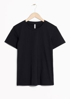 & Other Stories image 2 of Cotton T-Shirt in Black