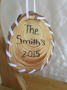 Pine Needle Christmas Ornament, Personalize, Unique, Holiday Gift, Our 1st home, Baby's 1st Christmas, Family name, Happy Holiday's by KandApineneedlebskt on Etsy