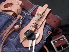 安裝實例錢包皮帶環鑰匙鏈WL0005N
