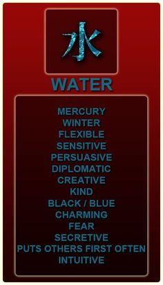 Chinese zodiac element: Water
