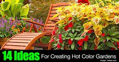Using color in the garden can be tricky. Creating a landscape picture with hot colors can be a challenge... unless you have some guidance. Lowe's has put together a slideshow featuring... 14 hot color ideas ... to help you incorporate them into your landscape plan and heat things up!... #spr #sum