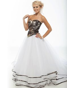 Prom Dresses Camo Wedding Dress This Is Absolutely Stunning And Flows Beautifully Together
