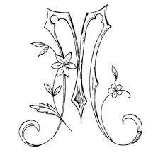Image result for tatuaje letras cursiva m