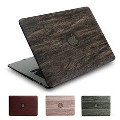 Retro PU wood grain series case for Apple macbook 11 12 13 15 inch Air Pro Retina cover bag new model - STORECHARGER Apple Mac Book, Apple Case, Macbook 12, Laptop Accessories, New Model, Wood Grain, Grains, Retro, Laptop Bags