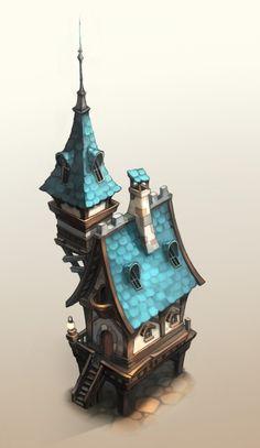Building Sketch, Building Concept, Building Art, Building Design, Fantasy Castle, Fantasy House, Medieval Fantasy, Fantasy Concept Art, Game Concept Art