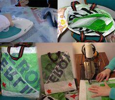Hacer una bolsa resistente a partir de bolsas de plástico es posible.