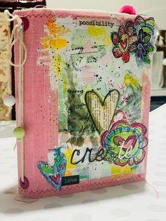 Il Dire Il Fare: Febbraio....il mese dell'amore.... e un mini junk! Medium Art, Mixed Media Art, Mini, Stencil, Valentino, Stenciled Table, Mixed Media, Stenciling
