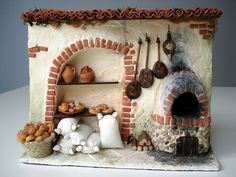 - Happy Christmas - Noel 2020 ideas-Happy New Year-Christmas Miniature Rooms, Miniature Kitchen, Miniature Crafts, Miniature Houses, Miniature Furniture, Christmas Nativity Scene, Miniture Things, Fairy Houses, Dollhouse Miniatures