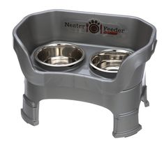 NEATER PET BRANDS Neater Feeder Deluxe with Leg Extensions (Medium, Gunmetal Grey) >>> Details can be found by clicking on the image. (This is an affiliate link) Pet Food Storage, Tallest Dog, Dog Cages, Pet Feeder, Medium Sized Dogs, Dog Feeding, Pet Bowls, Pet Supplies, Extensions