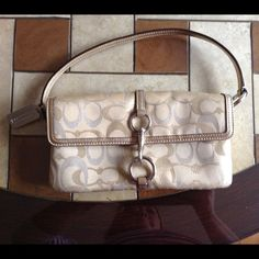 "Gold Mini Purse Like New Great condition and used maybe once . Width 9 1/2"" Length 5"" Coach Bags Mini Bags"