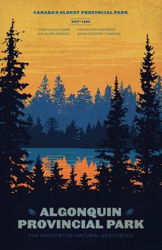 Algonquin Park Poster Art Print - used to go camping here as a kid, many adventures!