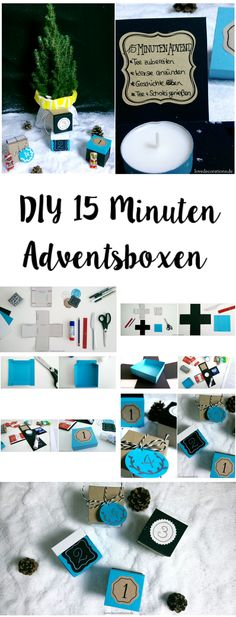 DIY 15 Minuten Adventsboxen  |  DIY 15 Minutes Adventsbox