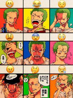 Roronoa Zoro , One piece , emoji