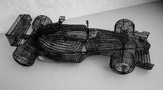 f1 Wire Art Sculpture, F1, Leather, Wire Sculptures