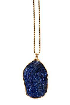 blue TITANIUM druzy necklace
