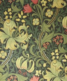 william morris wallpaper - Google Search There are so many it's hard to choose but I always seem to lean toward greens & reds.