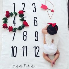 Oh Valentines, bring on the red pink and chocolate! ❤ Milestone Blankets by the original creator BATZkids makes tacking babies growth so easy! Newborn Pictures, Baby Pictures, Monthly Baby Photos, Monthly Pictures, Milestone Pictures, Expecting Mom Gifts, Baby Growth, Baby Milestones, Baby Decor