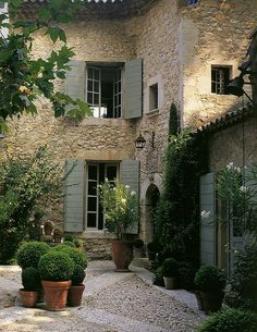European courtyard