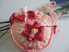 bolsinha de crochet