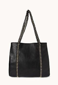 Pretty Tough Woven Chain Tote | FOREVER21 - 1000065711