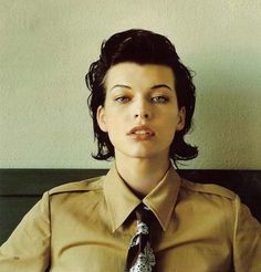 "Milla Jovovich ""If I'm not overloaded, I become depressed because I feel like I'm doing nothing with my life. Last year I lost a friend, a guitarist from my band. He was only 21 years old. Since then, I think a lot about death and about all the things I want to do before disappearing. So I never rest."""
