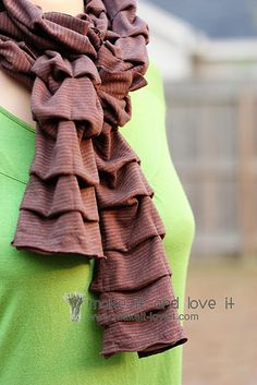 pleated knot scarf