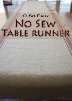 Easy No Sew Table Ru