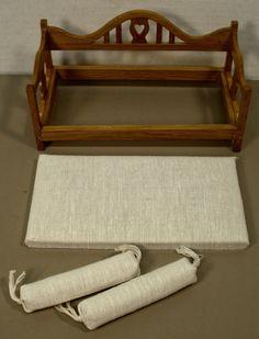 RARE Fine Vintage Dollhouse Miniature Day Bed Sofa Reminiscence | eBay