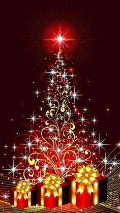 Scarica Xmas Tree 1080 x 1920 Sfondi - 4728223 Christmas Scenes, Christmas Images, Christmas Art, Beautiful Christmas, Vintage Christmas, Christmas Holidays, Christmas Decorations, Merry Christmas And Happy New Year, Christmas Greetings
