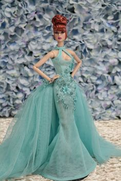 Gown-Outfit-Dress-Fashion-Royalty-Silkstone-Barbie-Model-Doll-FR  BY T.D.13/5/3 #FashionRoyalty #ClothingAccessories