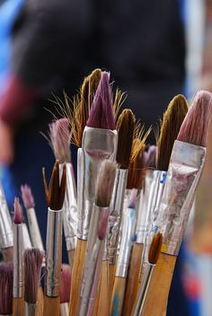 Painting is my favorite art activity! :) I embrace myself with paint brushes and the amazing colors! <3
