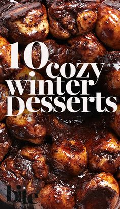 As the weather gets colder wouldn't it be nice to have something delicious and sweet to warm you up on a cozy night in? Take a peak at our 10 favourite cozy winter dessert recipes! #winterbaking #holidaybaking #holidayrecipes