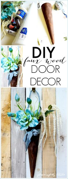DIY FAUX WOOD DOOR DECOR