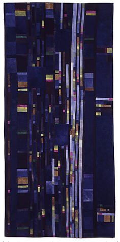 Beth Carney Studio / Gallery - Structured Chaos Series. Love the glow of light fabric in dark ground