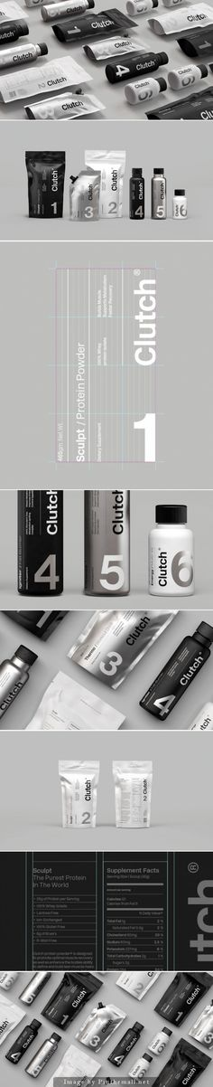 Clutch Bodyshop packaging design by Socio Design. Corporate Design, Graphic Design Branding, Identity Design, Logo Design, Brand Identity, Cool Packaging, Print Packaging, Pouch Packaging, Web Design