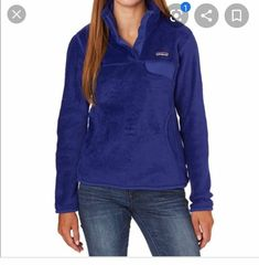 Patagonia blue color Beely piling Prices are not firm Patagonia Fleece Jacket, Patagonia Pullover, Pullover Sweaters, Royal Blue, Brand New, Sweatshirts, Jackets, Color, Fashion