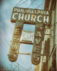 Jesus Saves  Andersonville Chicago Vintage Sign door KevinKlimaPhoto