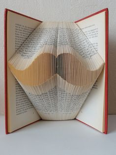 Folded book art from