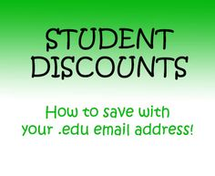 Student discounts with .edu email =] #college #discounts #students
